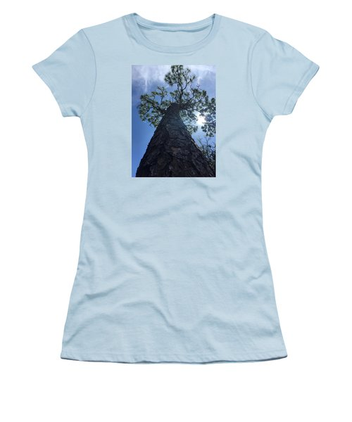 Stretching At Eagle Lake Park Women's T-Shirt (Athletic Fit)