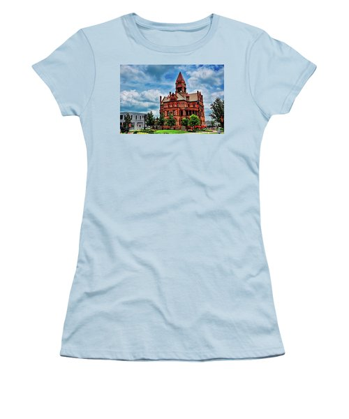 Sulphur Springs Courthouse Women's T-Shirt (Junior Cut) by Diana Mary Sharpton