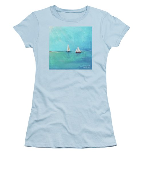 Women's T-Shirt (Junior Cut) featuring the painting Summer Breeze-e by Jean Plout