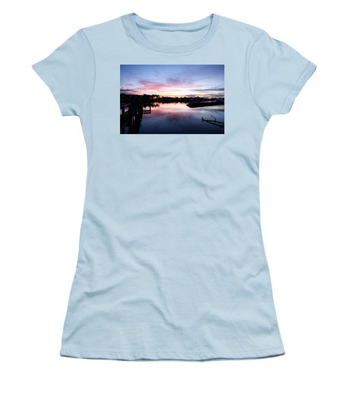 Women's T-Shirt (Junior Cut) featuring the photograph Summer House by Laura Fasulo