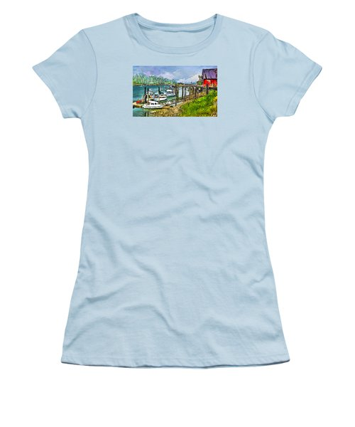 Women's T-Shirt (Junior Cut) featuring the digital art Summer In La'conner by Dale Stillman
