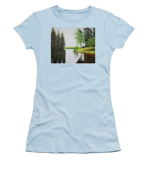 Summer Lake Women's T-Shirt (Athletic Fit)