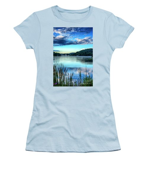 Summer Morning On The Lake Women's T-Shirt (Junior Cut) by Thomas R Fletcher
