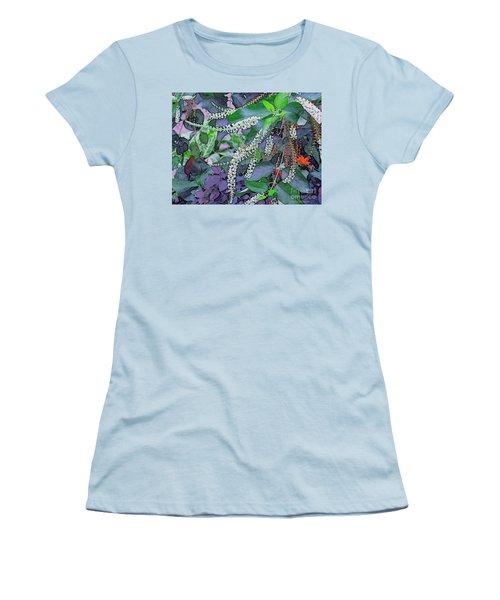Summer White Women's T-Shirt (Junior Cut) by Kathie Chicoine