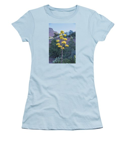 Sun Brightened Century Plant Women's T-Shirt (Junior Cut) by Laura Pratt