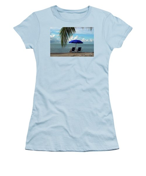 Sunday Morning At The Beach In Key West Women's T-Shirt (Athletic Fit)