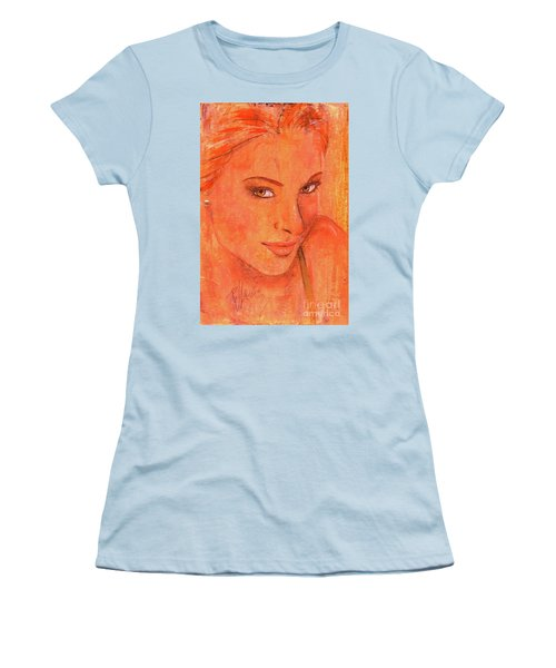 Women's T-Shirt (Junior Cut) featuring the painting Sunday by P J Lewis