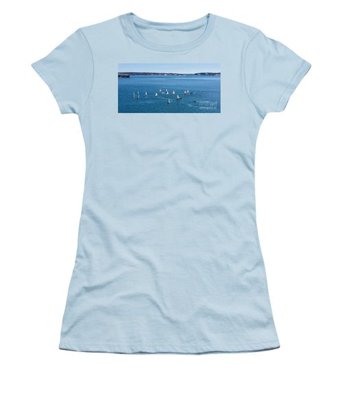 Sunday Sailing School On Casco Bay Women's T-Shirt (Athletic Fit)