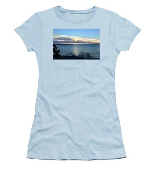 Sunday Sunrise On Casco Bay Women's T-Shirt (Athletic Fit)