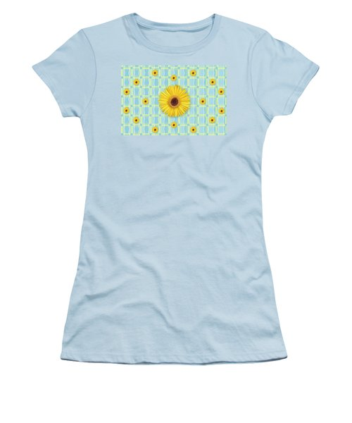 Sunflower Pattern Women's T-Shirt (Junior Cut)
