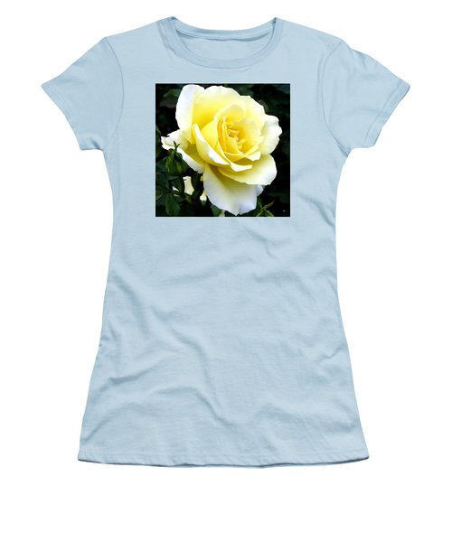Women's T-Shirt (Athletic Fit) featuring the photograph Sunny Cream Rose by Will Borden