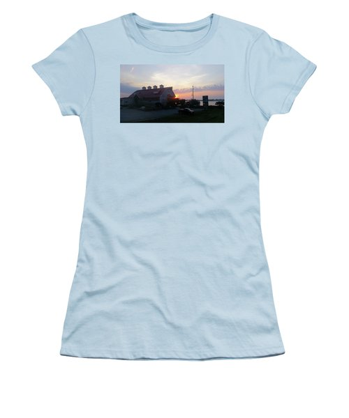 Sunrise At Hooper's Crab House Women's T-Shirt (Junior Cut)