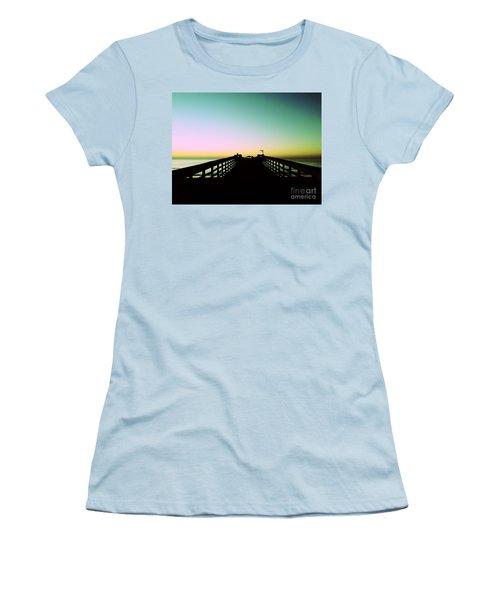 Sunrise At The Myrtle Beach State Park Pier In South Carolina Us Women's T-Shirt (Junior Cut) by Vizual Studio