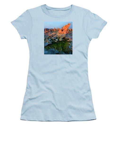 Sunrise On Tufa 2 Women's T-Shirt (Junior Cut) by Sean Sarsfield