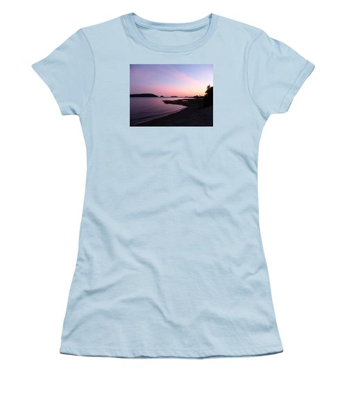 Women's T-Shirt (Junior Cut) featuring the photograph Sunset At Five Islands by Joel Deutsch