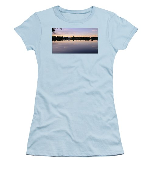 Women's T-Shirt (Athletic Fit) featuring the photograph Sunset At The Farmhouse by Monte Stevens