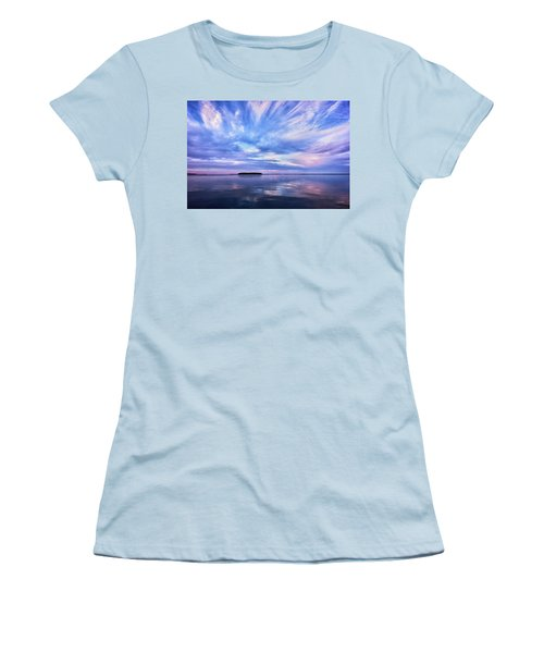 Sunset Awe  Signed Women's T-Shirt (Athletic Fit)