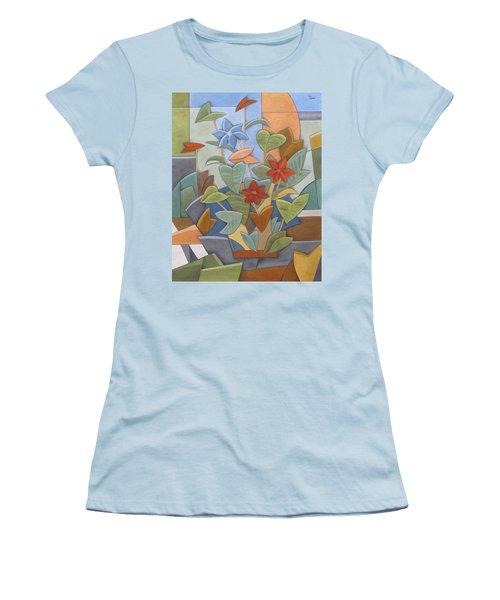 Sunset Flowerbed Women's T-Shirt (Junior Cut) by Trish Toro
