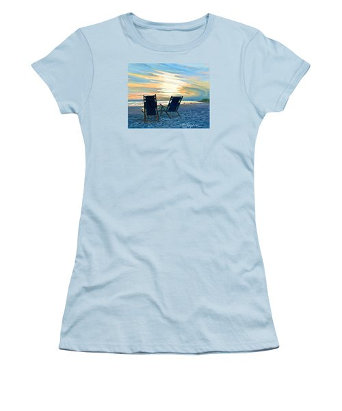 Sunset On The Beach Women's T-Shirt (Athletic Fit)