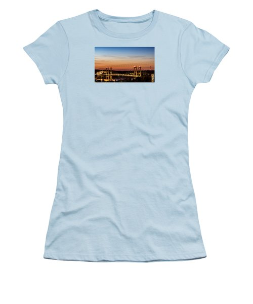 Sunset Over The Tacoma Narrows Bridges Women's T-Shirt (Athletic Fit)