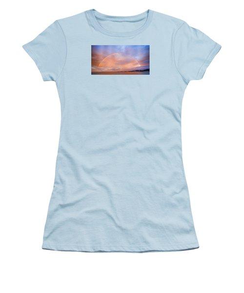Sunset Rainbow Women's T-Shirt (Junior Cut) by Steve Siri