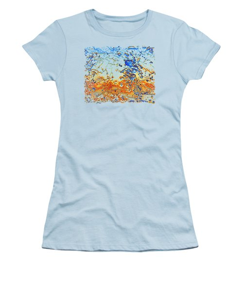 Women's T-Shirt (Junior Cut) featuring the photograph Sunset Walk by Sami Tiainen