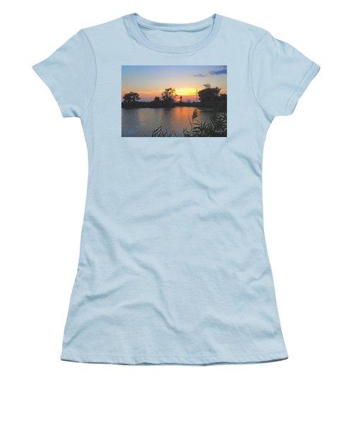 Sunset West Of Myer's Bagels Women's T-Shirt (Junior Cut) by Felipe Adan Lerma
