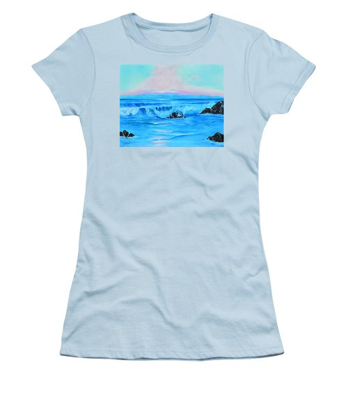 Surf At Sunset  Women's T-Shirt (Athletic Fit)