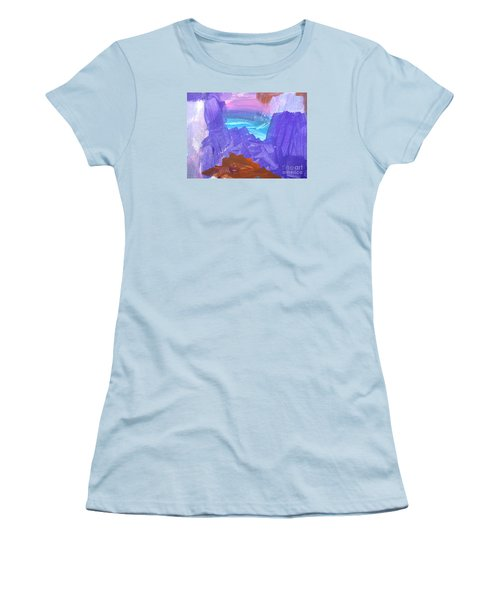 Women's T-Shirt (Junior Cut) featuring the photograph Surf By Hannah by Fred Wilson