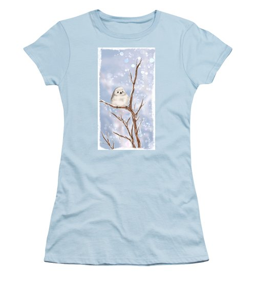 Women's T-Shirt (Junior Cut) featuring the painting Sweet Cold by Veronica Minozzi
