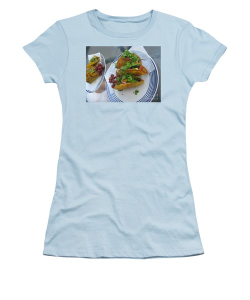 Women's T-Shirt (Athletic Fit) featuring the photograph Tacos Almost Mirrored by Marie Neder