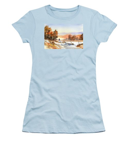 Taking A Walk Women's T-Shirt (Junior Cut) by Debbie Lewis