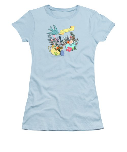 Tea For Two Women's T-Shirt (Junior Cut) by Little Bunny Sunshine