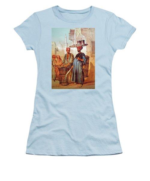 Women's T-Shirt (Junior Cut) featuring the photograph Tea Seller by Munir Alawi