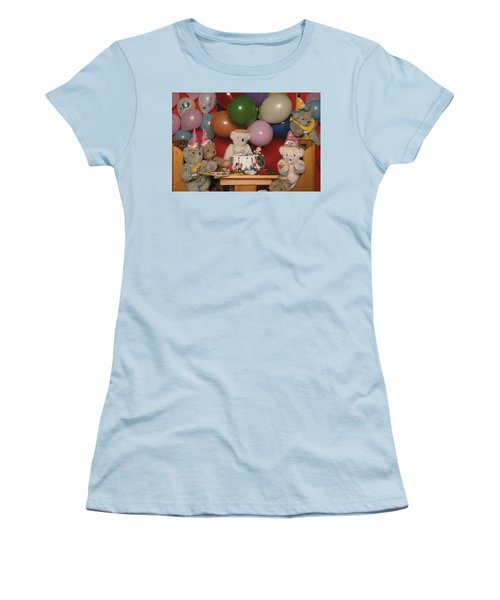 Teddy Bear Party Women's T-Shirt (Athletic Fit)