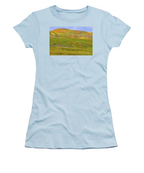 Women's T-Shirt (Junior Cut) featuring the photograph Temblor Range Spring Color by Marc Crumpler