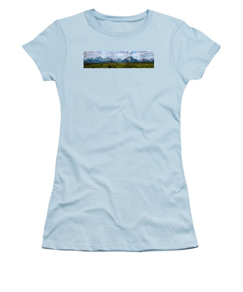 Tetons - Panorama Women's T-Shirt (Athletic Fit)