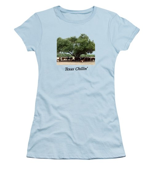 Texas Chillin T Shirt Women's T-Shirt (Athletic Fit)