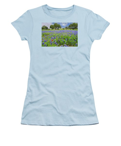 Texas Spring  Women's T-Shirt (Athletic Fit)