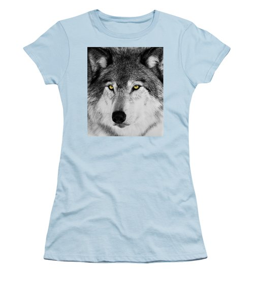 Women's T-Shirt (Junior Cut) featuring the photograph The Alpha Portrait by Mircea Costina Photography