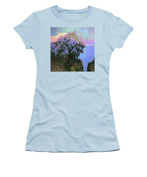 Women's T-Shirt (Junior Cut) featuring the painting The Aroma Of Wandering by Anastasija Kraineva