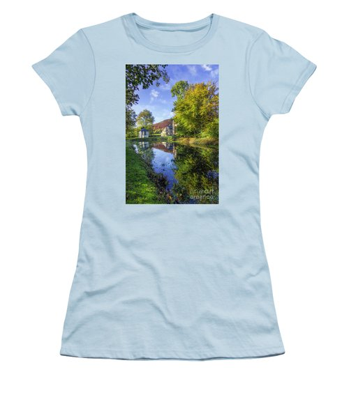 Women's T-Shirt (Junior Cut) featuring the photograph The Autumn Pond by Ian Mitchell