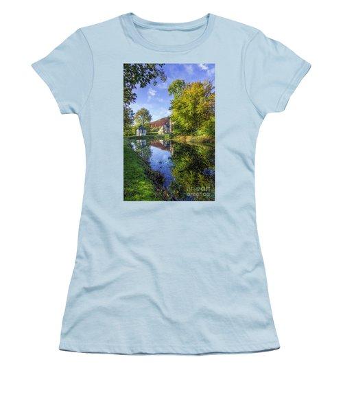 The Autumn Pond Women's T-Shirt (Junior Cut) by Ian Mitchell