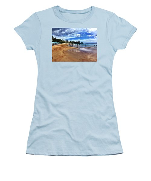 Women's T-Shirt (Junior Cut) featuring the photograph The Beach 2 by Michael Albright