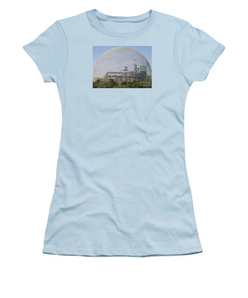 The Biosphere  Ile Sainte-helene Montreal Quebec Women's T-Shirt (Junior Cut) by Reb Frost