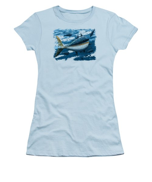 The Chase Women's T-Shirt (Junior Cut) by Kevin Putman