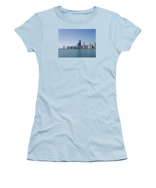 The City Of Chicago Across The Lake Women's T-Shirt (Junior Cut) by Skyler Tipton