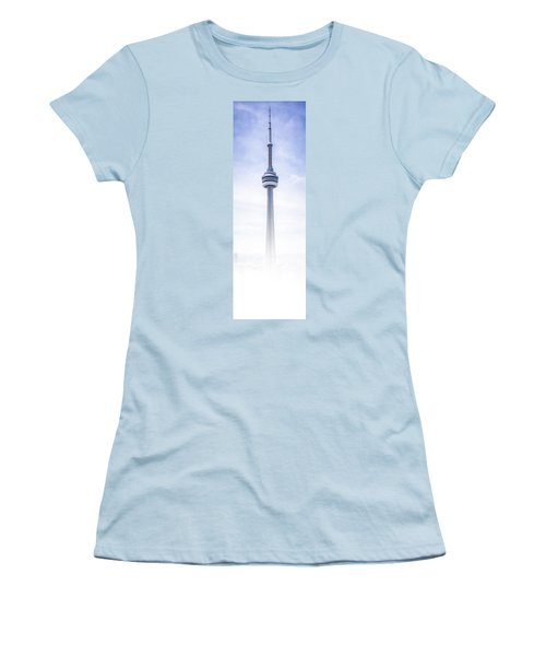 Women's T-Shirt (Junior Cut) featuring the photograph The Cn Tower by Anthony Rego
