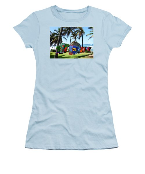 Women's T-Shirt (Junior Cut) featuring the photograph The Colors Of Barbados by Kurt Van Wagner