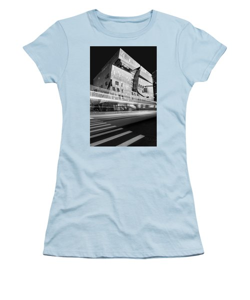 Women's T-Shirt (Athletic Fit) featuring the photograph The Cooper Union Nyc Bw by Susan Candelario